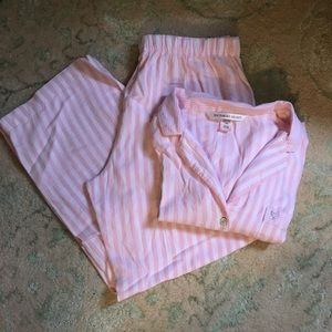 Victoria's Secret striped Flannel Pajama Set  S